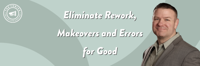 Dr. Luke Chesla shares how to eliminate errors from your business process.