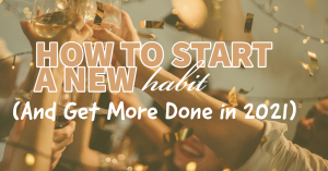 how to start a new habit